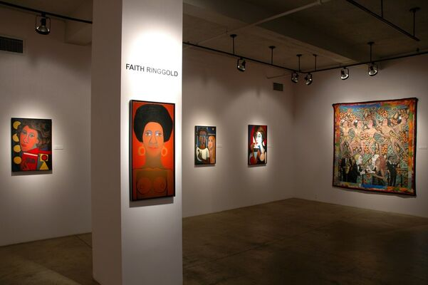 Faith Ringgold's AMERICA: Early Works and Story Quilts, installation view