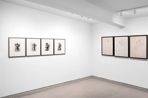 INTERCHANGE featuring works by William Kentridge, Paul Herrmann, and Amy Stacey Curtis, installation view
