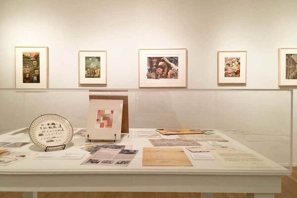 John Ashbery: New Collages, installation view