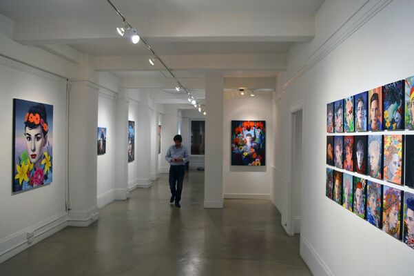 "Ryan Martin : ""37 Portraits of Julian Larach"", installation view"