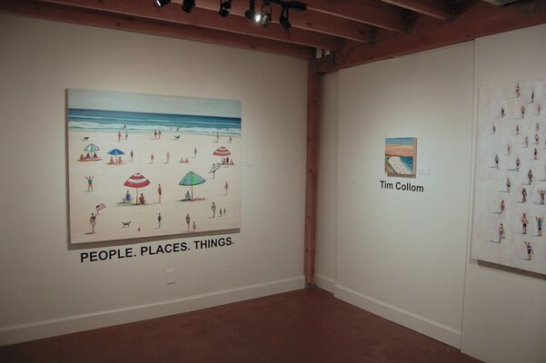 People. Places. Things.  Tim Collom & Leslie Rock, installation view