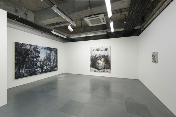 There is a place with four suns in the sky - red, white, blue and yellow | Wang Zhibo, installation view