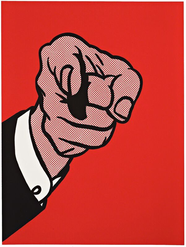 Roy Lichtenstein, 'Finger Pointing', 1973, Print, Screenprint in colours, on wove paper, RAW Editions