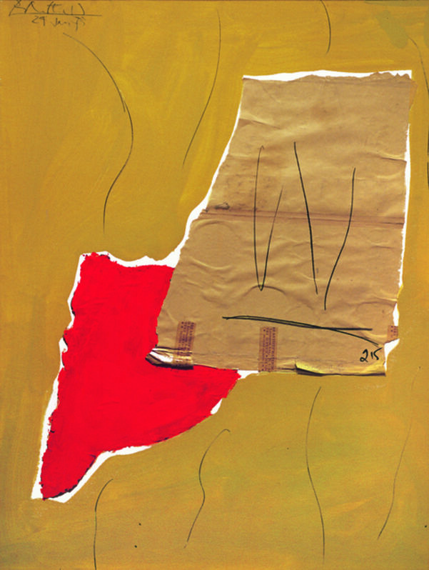Robert Motherwell, 'Birthday', 1973, Mixed Media, Acrylic, pasted papers, and graphite on Upson board, Dedalus Foundation