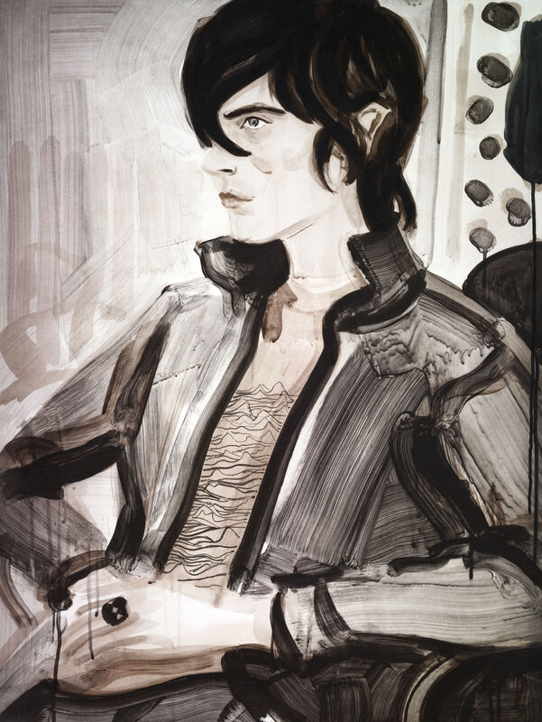Elizabeth Peyton, 'Nick', 2004/2012, Print, Seven-color etching with aquatint on En Tout Cas paper,hand torn, Two Palms