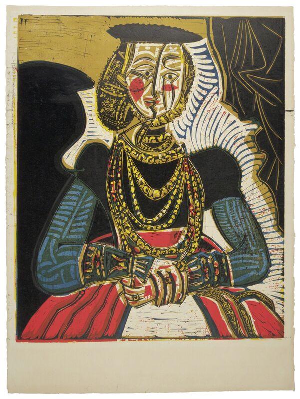 Pablo Picasso, 'Buste de femme d'après Cranach le Jeune', 1958, Print, Linocut in colors, on Arches paper, Christie's