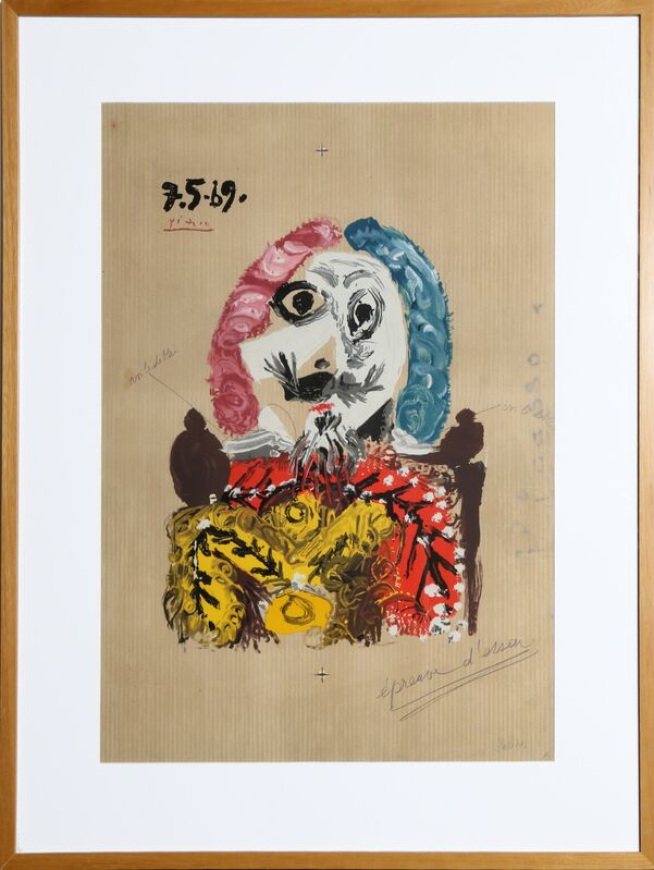 Pablo Picasso, 'Imaginary Portrait 1', 1969, Print, Lithograph in Colors, RoGallery