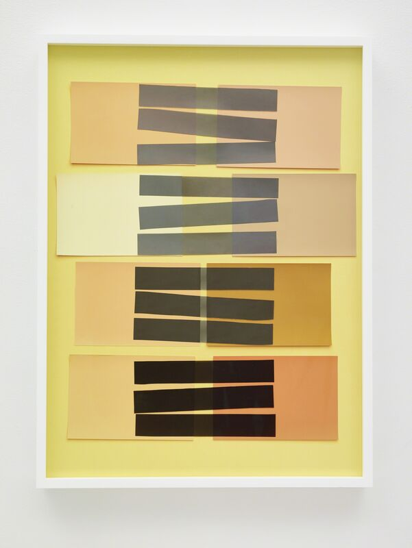 Vik Muniz, 'Handmade: Interaction of Color 24 (Rectangles, Black Stripes)', 2017, Drawing, Collage or other Work on Paper, Mixed media on archival inkjet print ed one of a kind, Nara Roesler