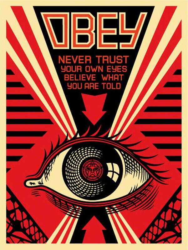 Shepard Fairey, 'Eye Alert', 2007, Print, Offset, EHC Fine Art