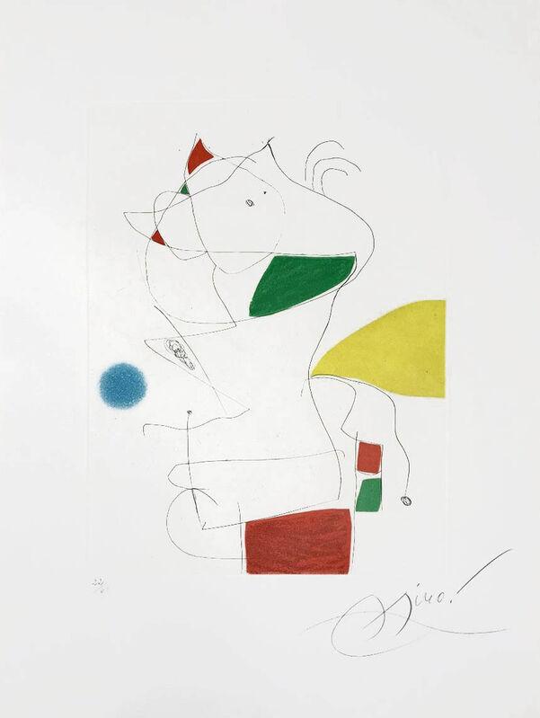 Joan Miró, 'Hommage a San Lazzaro, Pl. 5', 1977, Print, Color Aquatint, Masterworks Fine Art
