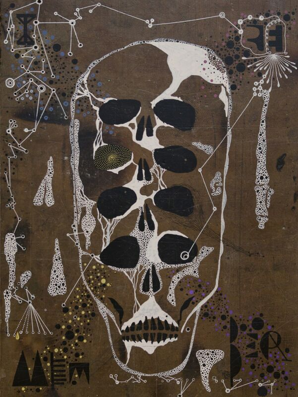 Memed Erdener a.k.a. Extrastruggle, 'I Remember', 2015, Painting, Acrylic on old MDF, Zilberman Gallery