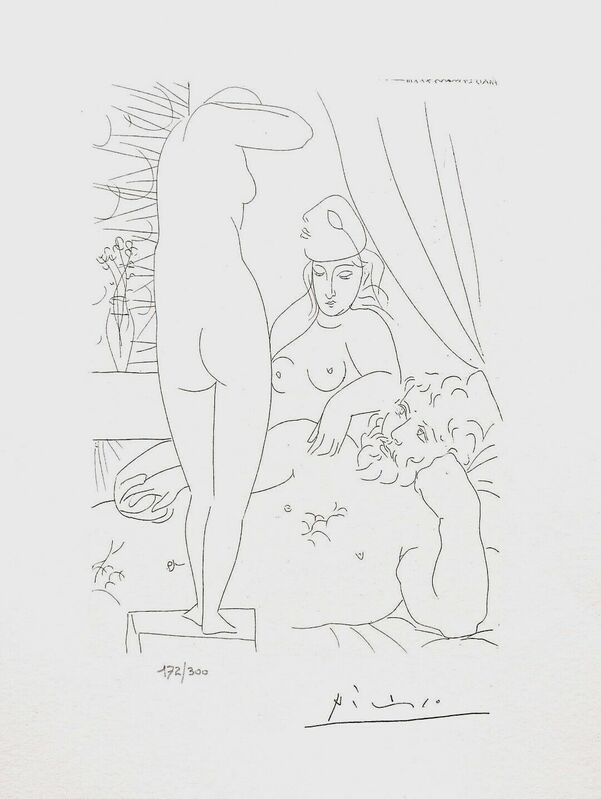 Pablo Picasso, 'Two Nudes & Man', 1990, Reproduction, Lithograph on wove paper, Art Commerce