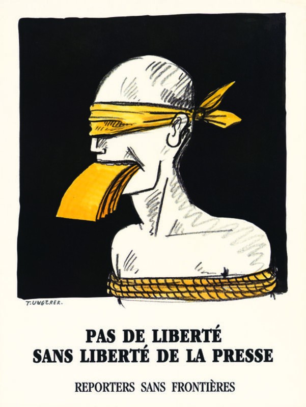 Tomi Ungerer, 'No Freedom without Freedom of the Press', 1962, Posters, Drawing Center