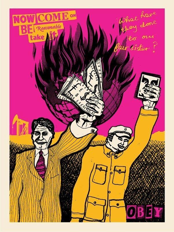 Shepard Fairey, 'Be Reasonable, Shepard Fairey x Jamie Reid', 2016, Print, Screen print, Dope! Gallery
