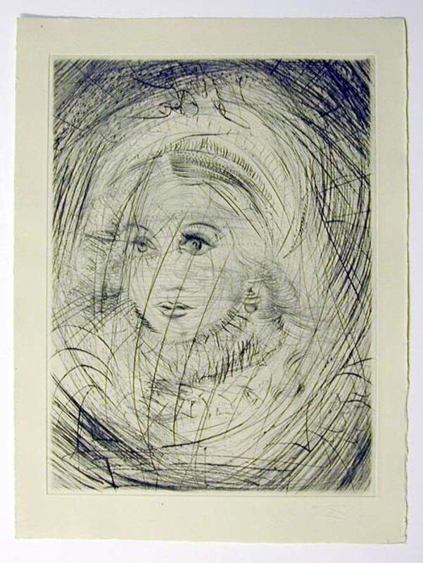 Salvador Dalí, 'Marguerite', 1969, Drawing, Collage or other Work on Paper, Original engraving, Dali Paris