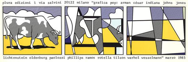 Roy Lichtenstein, 'Cow Going Abstract', 1985
