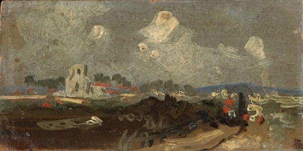 Artist Unknown, British, 19th Century, 'Landscape with Church', 19th century