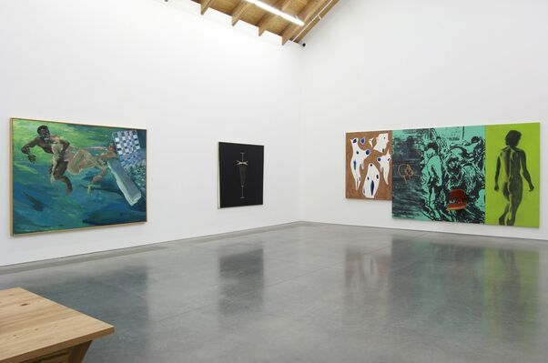 Unfinished Business: Paintings from the 1970s and 1980s by Ross Bleckner, Eric Fischl, and David Salle, installation view