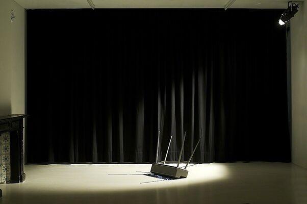 Sound Spill by Haroon Mirza, Thom O'Nions, & Richard Sides with Nina Canell, EVOL, Alex Heim, Gary Hill, Torsten Lauschmann, & Richard Sides, installation view
