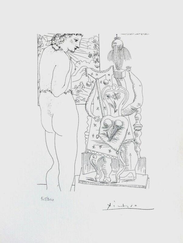 Pablo Picasso, 'Model & Surrealist Sculpture', 1990, Reproduction, Lithograph on wove paper, Art Commerce