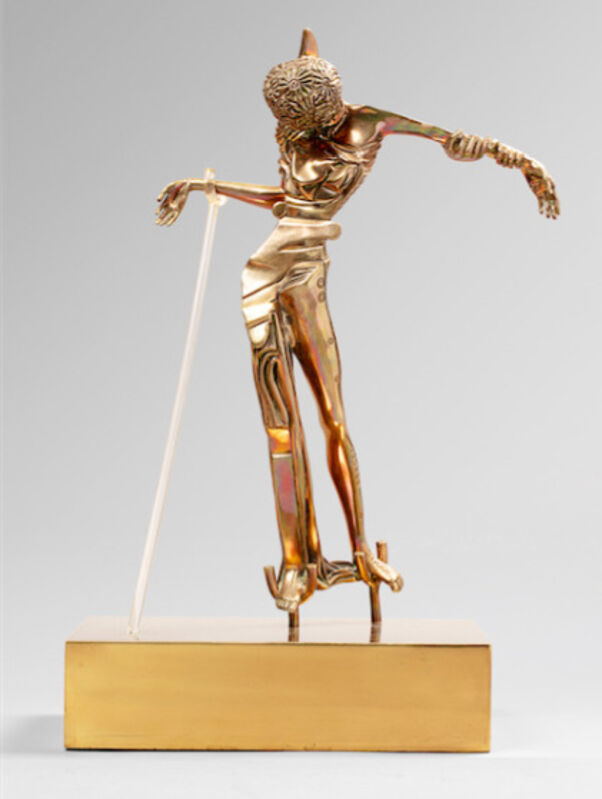 Salvador Dalí, 'Woman with A Head of Roses', 1981, Sculpture, Bronze, gold patina and plexiglas on a brass base, Dali Paris