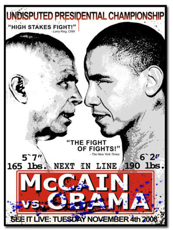Mr. Brainwash, 'McCain vs. Obama', 2008, Print, Screenprint, MSP Modern Gallery Auction