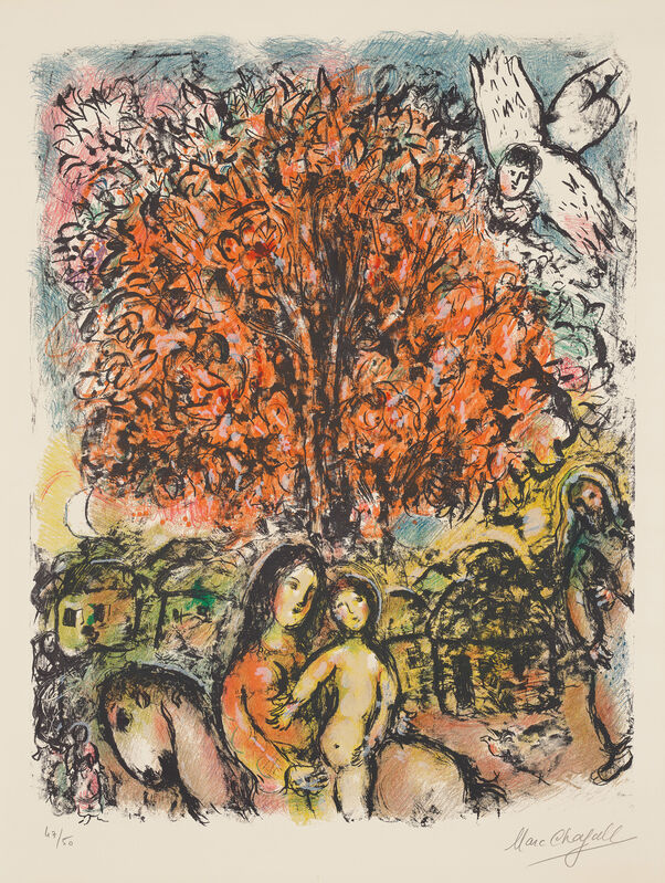 Marc Chagall, 'La Sainte Famille (The Holy Family)', 1970, Print, Lithograph in colours, on Arches paper, with full margins., Phillips