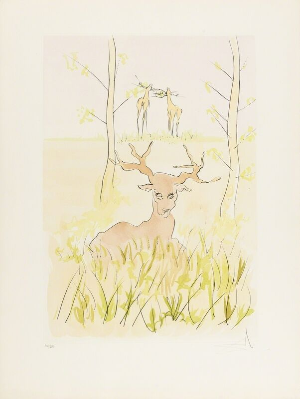 Salvador Dalí, 'Le Cerf Malade (Field 74-1-F; M & L 659)', 1974, Print, Etching with drypoint and pochoir printed in colours, Forum Auctions