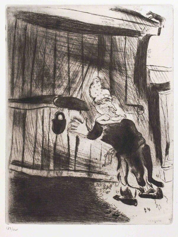 Marc Chagall, 'Pliouchkine à la porte', 1930s, Print, Etching, Wallector