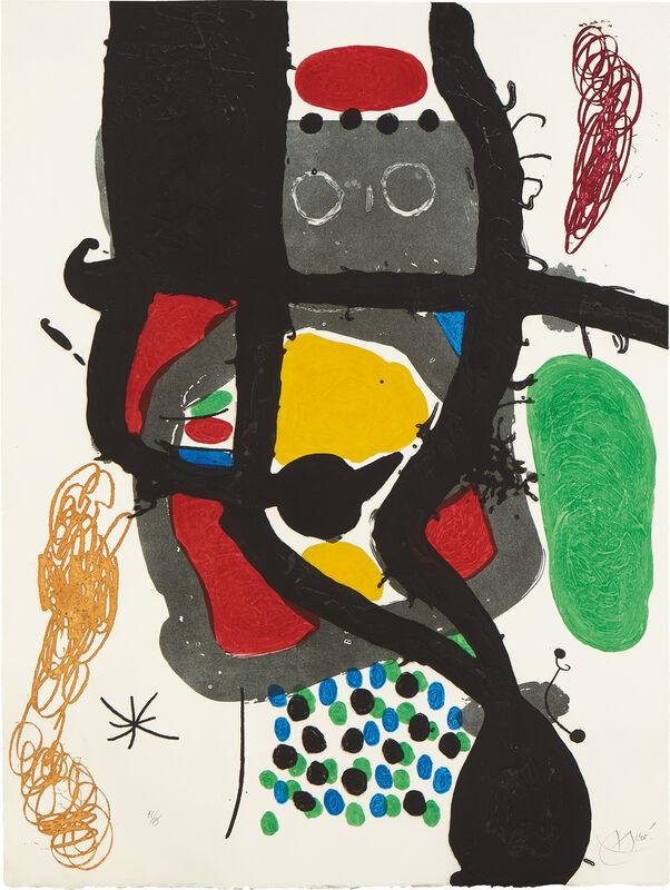 Joan Miró, 'Le Caissier (The Cashier)', 1969, Print, Etching and aquatint with carborundum in colors, on Mandeure rag paper, the full sheet., Phillips