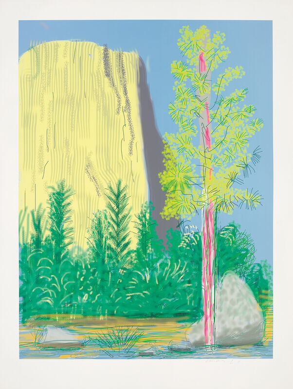 David Hockney, 'Untitled No. 22, from The Yosemite Suite', 2010, Print, IPad drawing in colours, printed on wove paper, with full margins., Phillips
