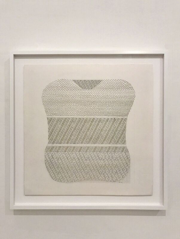 Beryl Korot, 'Curves 3', 2016, Drawing, Collage or other Work on Paper, Ink, pencil, and embroidered thread on paper, bitforms gallery