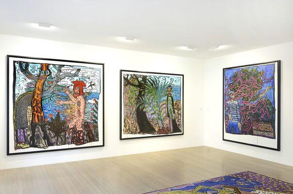"""""""Le Théâtre de la Mer"""" par Robert Combas, installation view"""