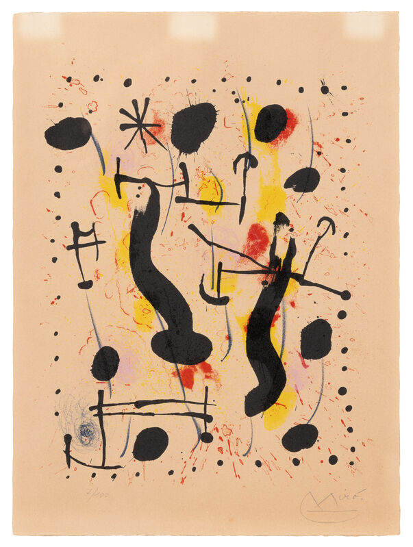 Joan Miró, 'The Lair of the Wild Boar', 1967, Print, Color lithograph, Hindman