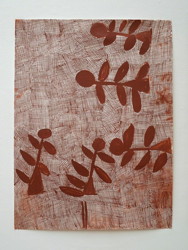 Nyapanyapa Yunupingu, 'Djorra (paper) 15', 2014, Drawing, Collage or other Work on Paper, Felt tip pen, earth pigments on discarded print proofs, Roslyn Oxley9 Gallery