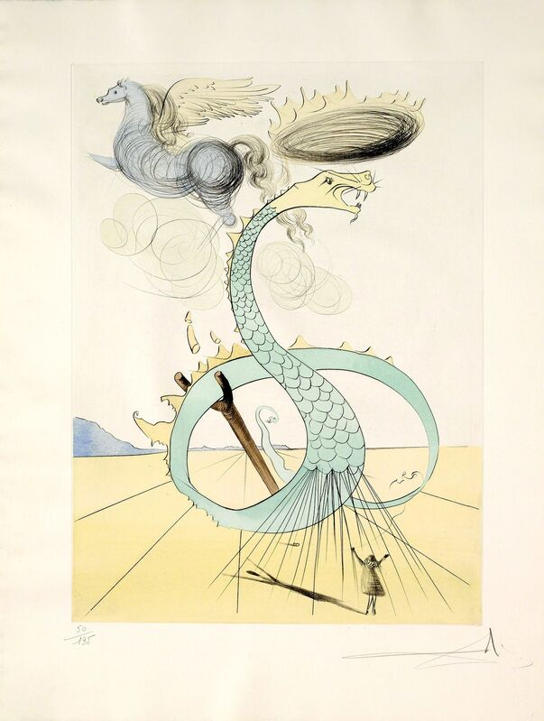 Salvador Dalí, 'Dan (Twelve Tribes of Israel)', 1973, Print, Hand-signed etching with color stencil, Martin Lawrence Galleries
