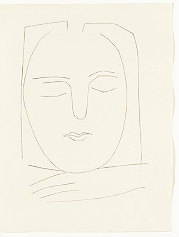 Pablo Picasso, 'Oval Head of a Woman with Square Hair (Plate XX)', 1949, Print, Original etching on Montval wove paper, Georgetown Frame Shoppe