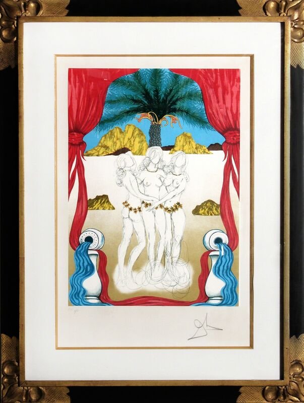 Salvador Dalí, 'Three Graces of Hawaii (Tarot: Three of Cups)', 1979, Print, Lithograph, RoGallery