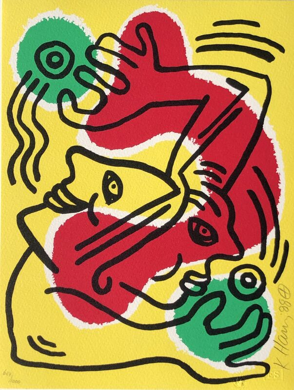 Keith Haring, 'International Volunteer Day', 1988, Print, Screenprint, Graeme Jackson