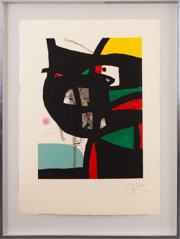 Joan Miró, 'Fundació Palma I', 1988, Print, Etching, aquatint and carborundum on Guarro watermarked paper, Galerie Michael