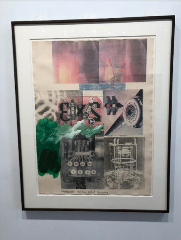 Robert Rauschenberg, 'Untitled (Happy Easter)', 1986, Drawing, Collage or other Work on Paper, Solvent transfer, acrylic, mixed media collage on paper, Dranoff Fine Art