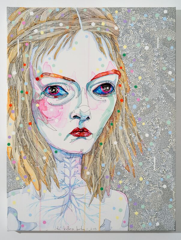 Del Kathryn Barton, 'to hold 2', 2013, Painting, Ynthetic polymer paint and gouache on polyester canvas, Roslyn Oxley9 Gallery