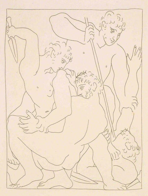 """Pablo Picasso, 'Combat pour Andromède entre Persée et Phinée - From """"Les Métamorphoses d'Ovide""""', 1931, Print, Etching, Wallector"""