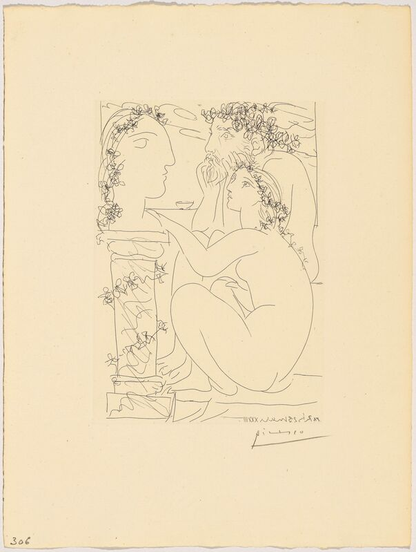 Pablo Picasso, 'Sculpteur et modèle admirant un tête sculptée', 1933, Print, Etching, 2nd state, Koller Auctions