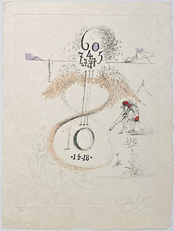 Salvador Dalí, 'The 1914-1918 War - Guerre de 1914-1918 ', 1967, Print, Original drypoint etching on Japanese paper., Off The Wall Gallery