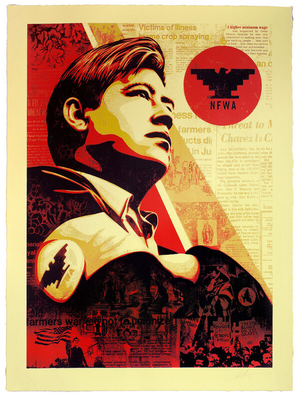 Shepard Fairey, 'Workers' Rights', 2016, Print, 4-Color Serigraph on Varnished 100% Cotton Rag Archival Paper, Subliminal Projects