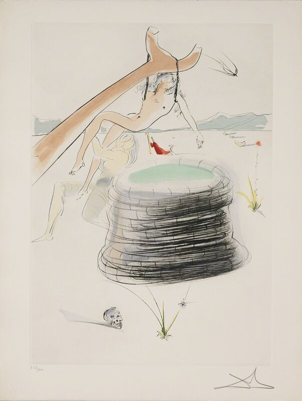 Salvador Dalí, 'Joseph (Joseph hung by his brethren) (Our Historical Heritage, Plate I)', 1975, Print, Hand-signed engraving, Martin Lawrence Galleries