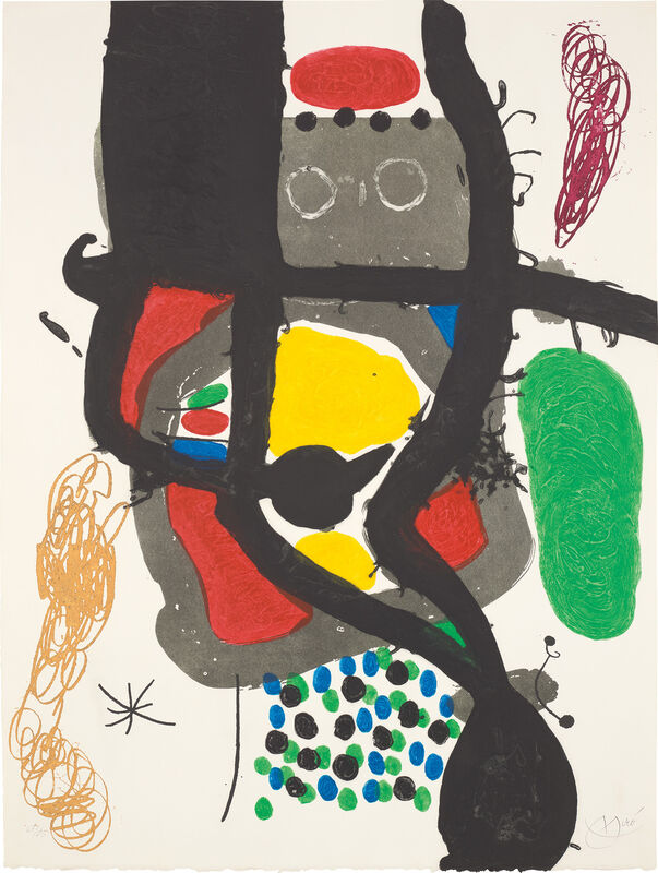 Joan Miró, 'Le Caissier (The Cashier)', 1969, Print, Etching and aquatint with carborundum in colours, on Mandeure rag paper, the full sheet., Phillips