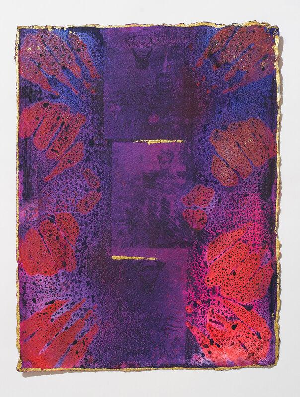Adelaide Damoah, 'Maameni's Dream. No. 1', 2020, Painting, Pigment ink and 24 carat gold on handmade paper (Cyanotype), Sakhile&Me
