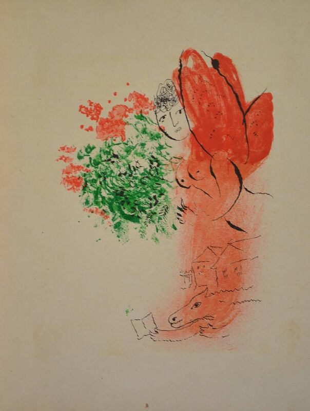 Marc Chagall, 'Journal d'un cheval', 1952, Books and Portfolios, Livre d'artiste with two original etchings and five original lithographs, Sylvan Cole Gallery